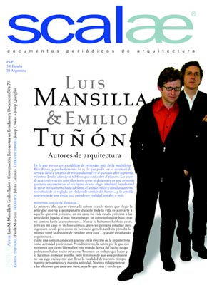 pliego SCALAE: Mansilla+Tuñon