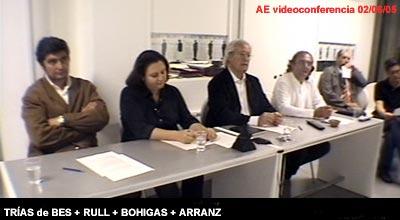 Participantes de la videoconferencia en el Centro de Enlace AE BCN