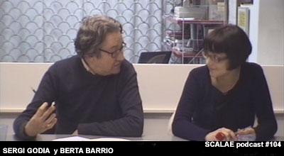 Sergi Godia y Berta Barrio en el Centro de Enlace AE BCN para SCALAE