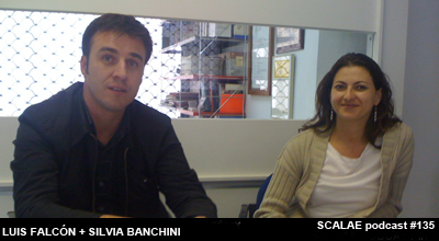 Luis Falcón y Silvia Banchini en el Centro de Enlace AE BCN para SCALAE