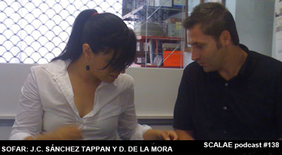 Juan Carlos Sánchez Tappan y Dafne de la Mora en el Centro de Enlace AE BCN para SCALAE