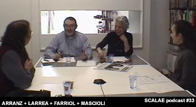 Quim Larrea y Silvia Farriol, arquinfad, para un episodio podcast de SCALAE