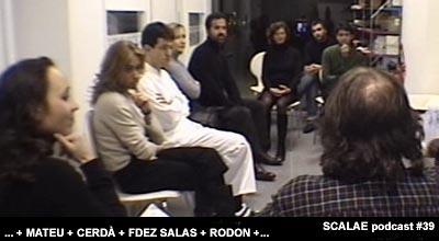 Encuentro Intimo: Rodon, Cerda, Fdez. Salas y Mateu en el Centro de Enlace de Barcelona
