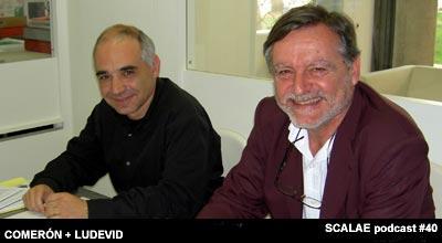 Jordi Ludevid y Lluis Comeron en el centro de enlace de Barcelona