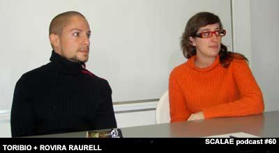 Esther Rovira Raurell y Nacho Toribio en el Centro de Enlace AE BCN