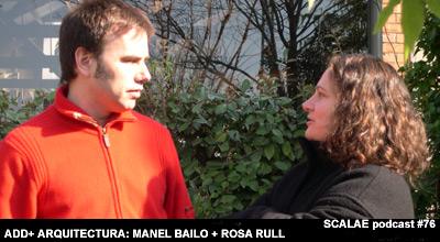 Manel Bailo y Rosa Rull en el jardín de su estudio